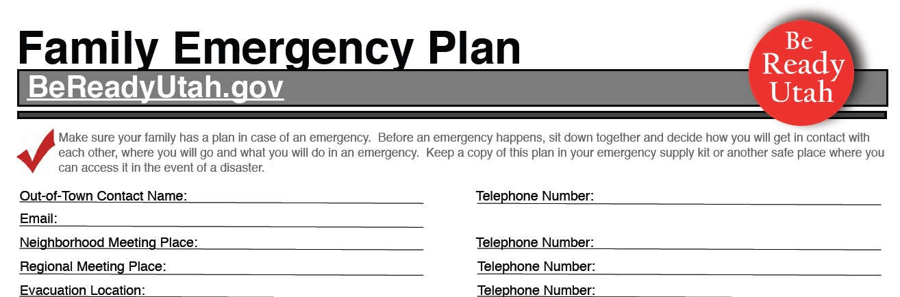 utah emergency prepardness