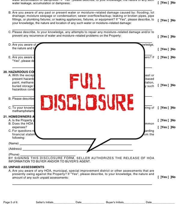 Why Full Disclosure is Important for Utah Sellers