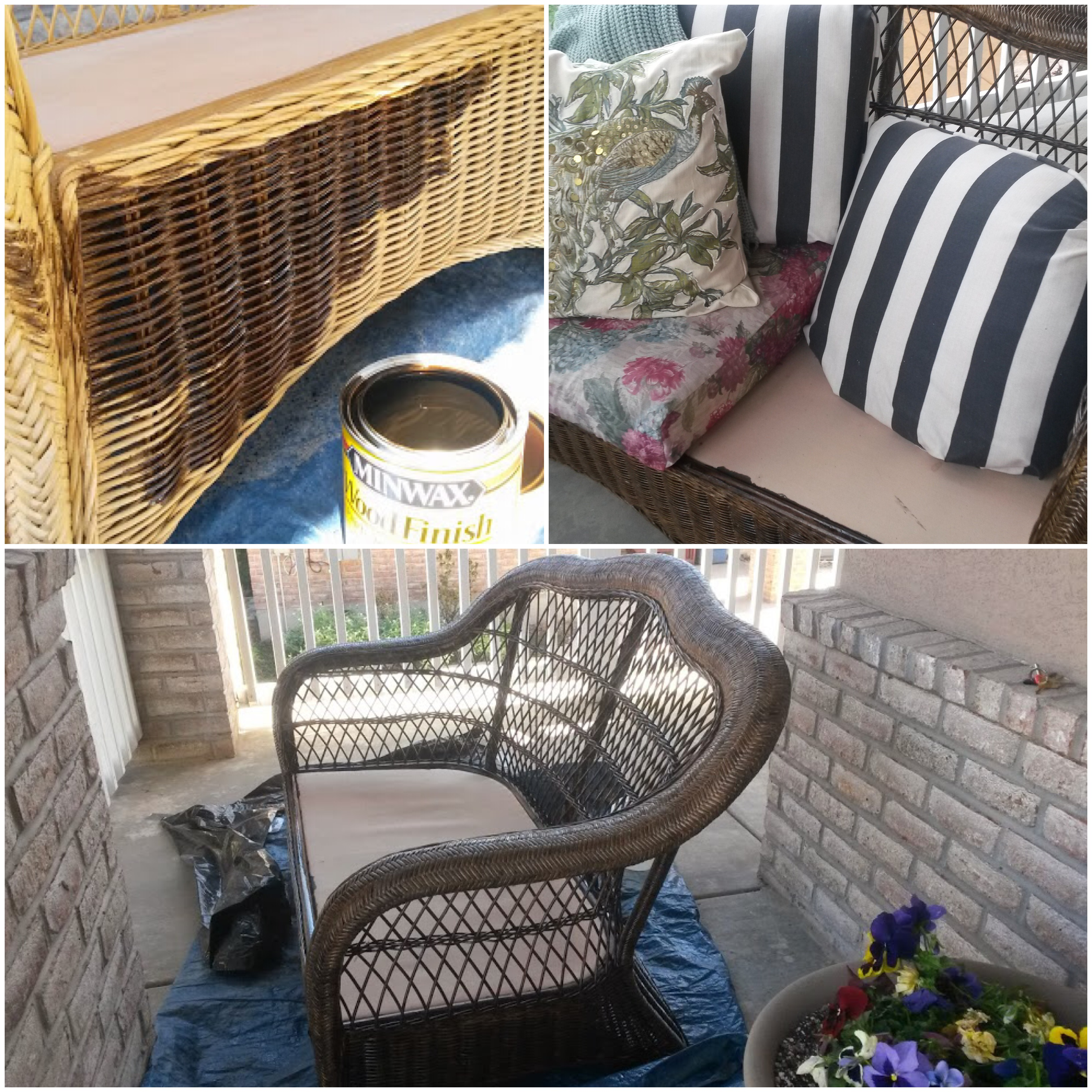 Wicker Furniture Staining